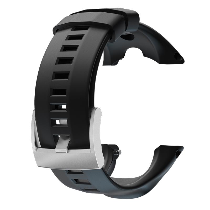 Suunto Bracelet en silicone noir saphir pour montre GPS Ambit 3 Peak