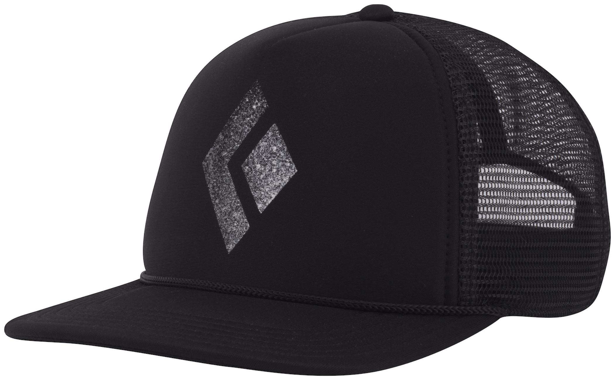 Black Diamond Flat Bill Trucker Hat - Cap